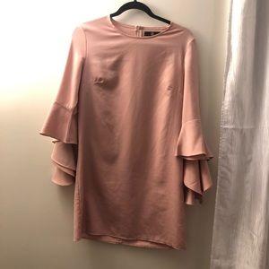 Missguided ruffle sleeve dress